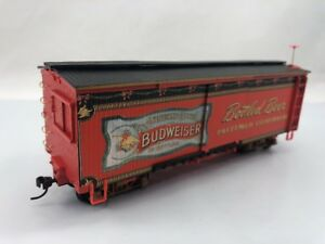 ffe22f564 Image is loading Budweiser-Holiday-Express-Train-Box-cargo-cart-Bottled-