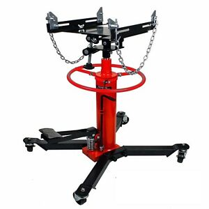 Details about 1660lbs 0 75Ton Transmission Jack 2 Stage Hydraulic w/ 360°  for car auto lift