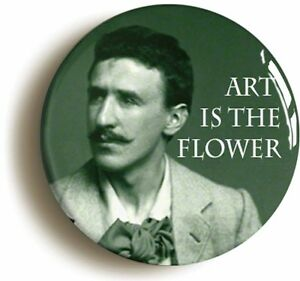 CHARLES-RENNIE-MACKINTOSH-ART-FLOWER-BADGE-BUTTON-PIN-Size-1inch-25mm-diameter