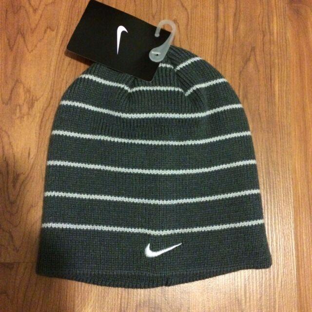 NWT Nike Big Boys Youth Beanie Striped Hat Size Youth 8 20 f56c270b6266