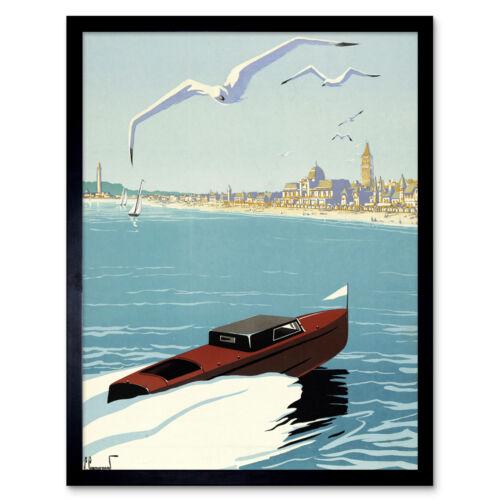 Commarmond Cayeux sur Mer francés Arte Cartel De Pared Enmarcado anuncio de viaje