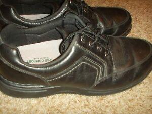 Plus Rockport maat 12w zwart Eureka wandelschoenen lederen Mens Cg8973 7570zvrqn