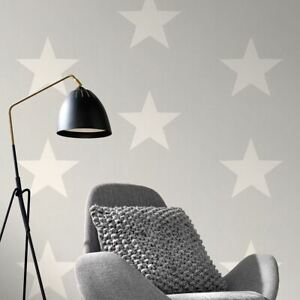 Rasch-Stars-Papier-Peint-Blanc-amp-Gris-248128-Neuf