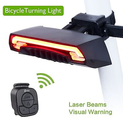 Smart Electric bike Laser USB Chargeable Remote Wireless Turn Signal Accessories