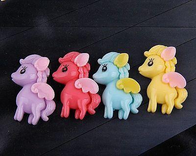 10pcs mix color horse Resin flatback Scrapbooking For DIY phone /craft