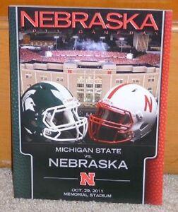 2011 Nebraska vs. Michigan State Football Program BIG 10 ...
