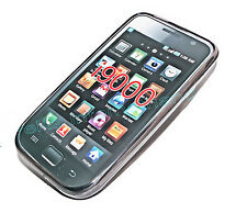 1 Silikon TPU Handy Cover Case Hülle Schale  in Smoke für Samsung i9000 Galaxy S
