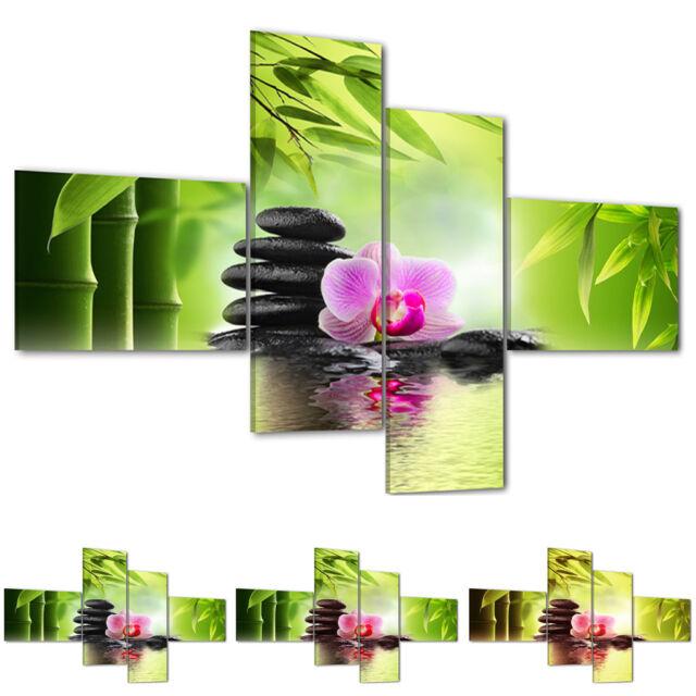 Cuadro Lino Pared Pintura Color y Tamaño Elegible #7573 Piedra Flor
