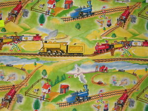 Choose-design-Steam-train-the-little-engine-that-could-cotton-quilting-fabric