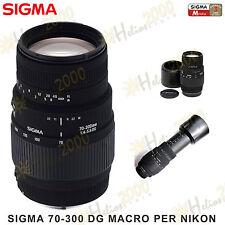 OBIETTIVO SIGMA AF 70-300 DG NIKON D3300 D3200 D3100 D3000 D5300 D5500 D7200 D90