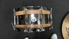 Acoutin Custom Stave Red Oak Steel Hybrid 6.5x14 Snare Drum