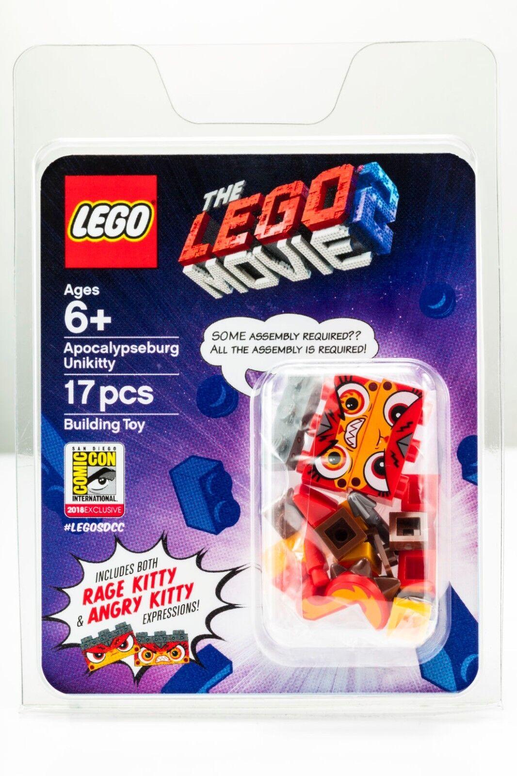 SDCC 2018 Lego Exclusive Minifigure Apocalypseburg unikitty from the Lego Movie