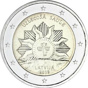 Lettland-2-Euro-2019-Aufgehende-Sonne-bankfrisch