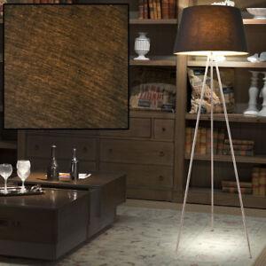 Design-Steh-Leuchte-Textil-Wohn-Zimmer-Decken-Fluter-Stand-Lese-Lampe-kupfer