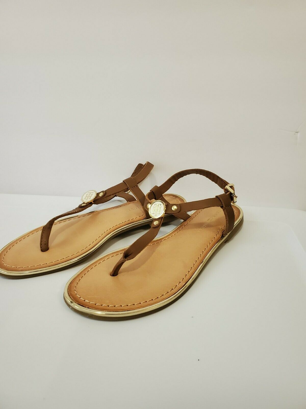 Tommy hilfiger women Brown Leather Sandals  - image 8
