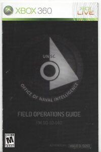 manual microsoft xbox 360 halo 3 odst instruction booklet ebay rh ebay com Halo Design Halo Elephant