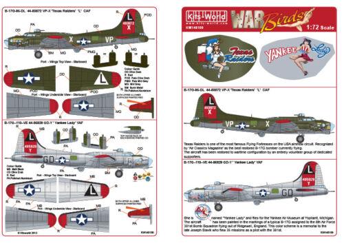 Kits World 148109-1:48 B-17G Flying Fortress Decalset Neu