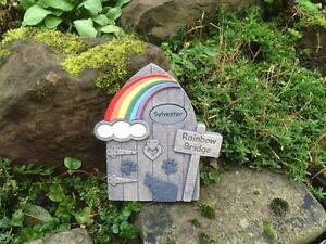 Personalised-Pet-Memorial-Cat-and-Paws-Rainbow-Bridge-Door-for-Garden