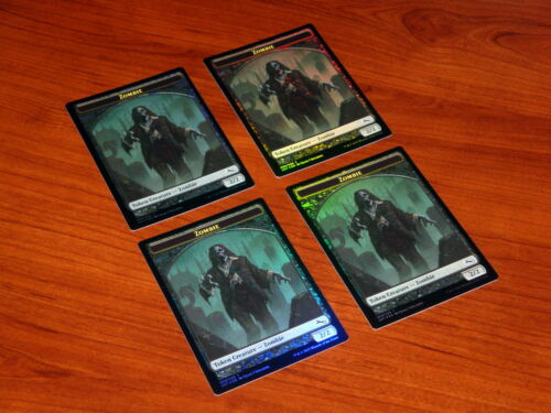 Unstable Zombie Token Foil 4x Unplayed Pack Fresh MTG Magic the Gathering 9//20