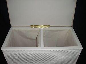 w schekorb zwei fachsotierer sitzhocker neu futter farbe. Black Bedroom Furniture Sets. Home Design Ideas