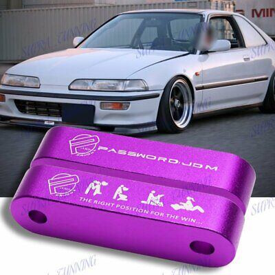 JDM Hood Spacer Risers Set For 88-00 Honda Civic CRX 90-01 Acura Integra Purple