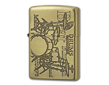 Zippo Play The Music Drums / Antique Brass / RARE Model from JAPAN !