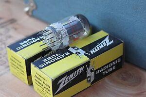 TESTED-Vintage-ZENITH-radio-tube-LOT-OF-2-6BA11-Radio-Electronic-Vacuum-Radionic