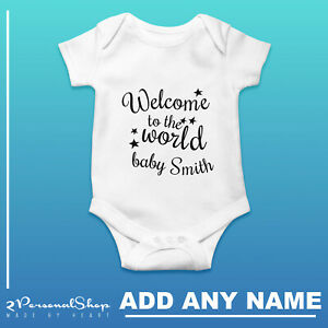 Personalised-Baby-Grow-Vest-Bodysuit-Girl-Or-Boy-Perfect-Custom-Baby-Shower-Gift