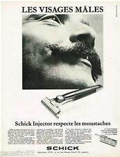 PUBLICITE ADVERTISING 095  1968  SCHICK   le rasoir INJECTOR