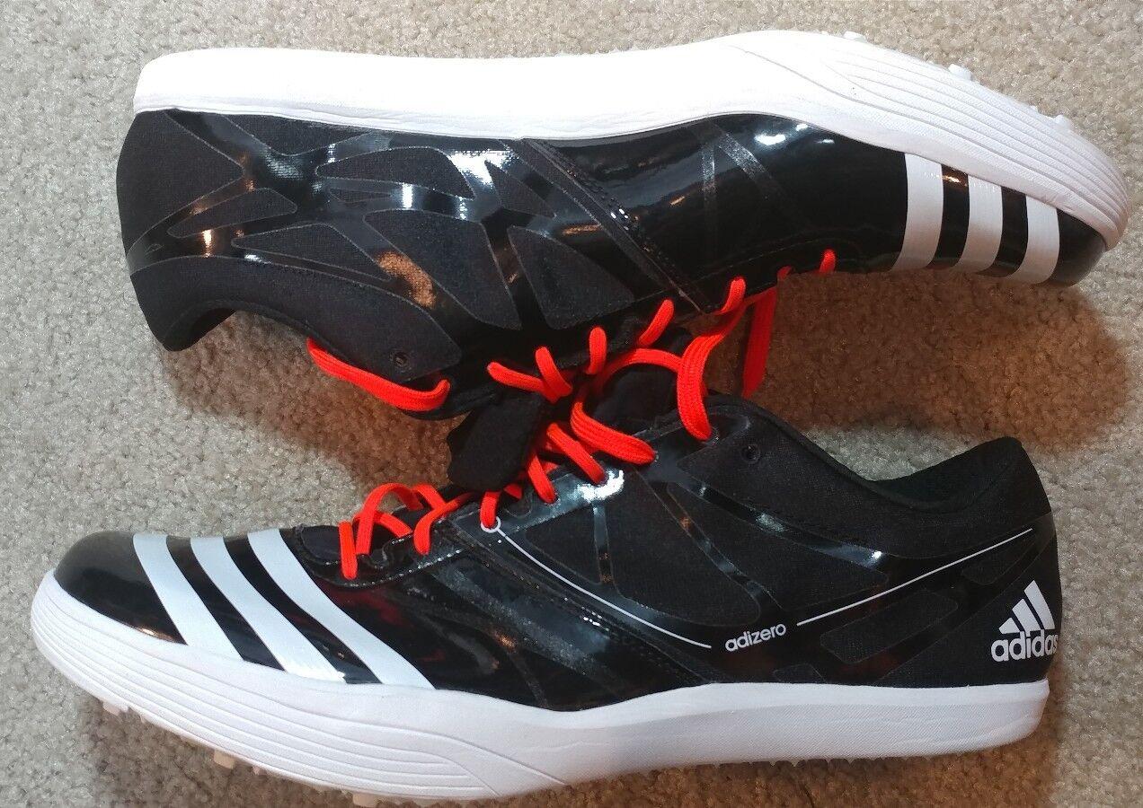 NWT Adidas Adizero HJ FL Track shoes Black BA4073 BA4073 BA4073  Men's Size 15 2b0673