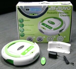 INFINUVO-ROBOT-Robotic-VACUUM-Wood-Tile-Floor-Cleaner-Charger-Remote-with-Box