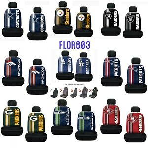 Set-Of-Two-NFL-Team-Logo-Printed-Car-Seat-Cover