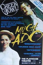 """40x60"""" HUGE SUBWAY POSTER~Much Ado About Nothing 1998 Cheek by Jowl Shakespeare~"""