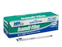 Handi-film 18x2000' Plastic Food Service Film Cling Wrap W/safety Slide Cutter