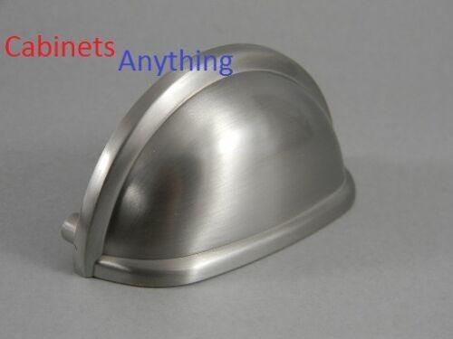 10 Amerock Satin Nickel Cup Pulls  BP53010-G10