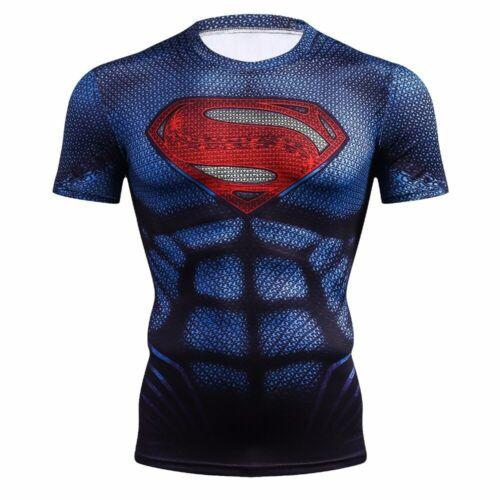 SUPERMAN MAN OF STEEL COMPRESSION SHIRT RASH GUARD LIKE UNDER ARMOUR ALTER EGO