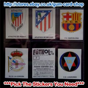 Panini-Futbol-Estrellas-de-la-Liga-93-94-1-99-Please-Select-Stickers