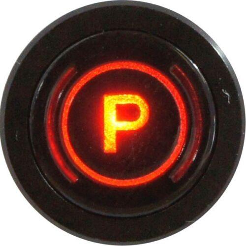 Ras Bisel Negro LED Luz De Advertencia Freno de estacionamiento