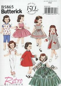 Pattern-Butterick-Sewing-Doll-Clothes-Outfits-fit-18-034-inch-Retro-039-56