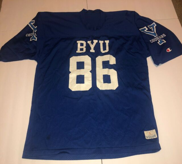BYU Cougars NCAA Football Vintage Champion Jersey Size ...