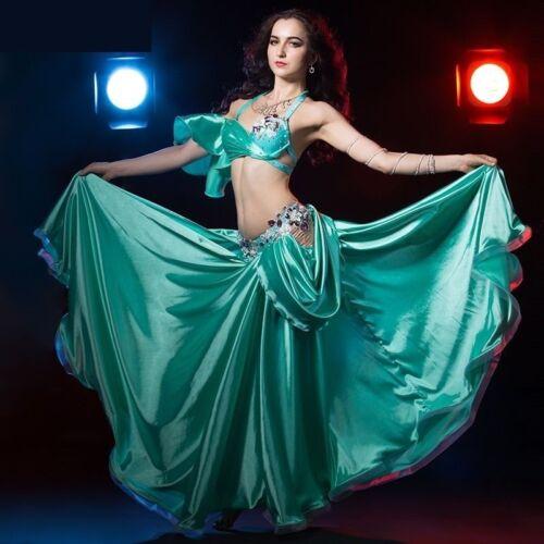 Professional Belly Dance Costume Bra and Long Skirt 2pcs set Performance Dance