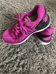 cheap for discount 97b4c d0a30 Details about Used Nike Lunar Eclipse 5 Running Women's Trainers Gym Uk 4  Pink Purple Neon