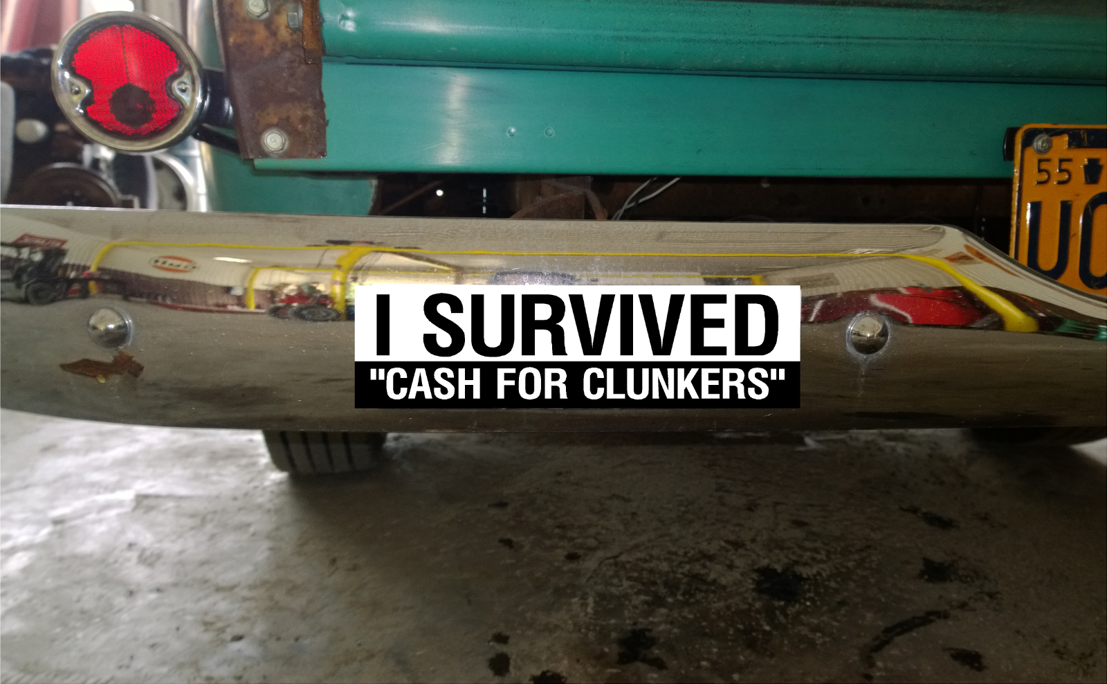 "8/"" Wide /""I Survived Cash For Clunkers/"" Vinyl Decals"