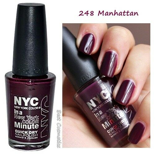 Nyc In A Minute Quick Dry Nail Polish Enamel Manhattan 248 For