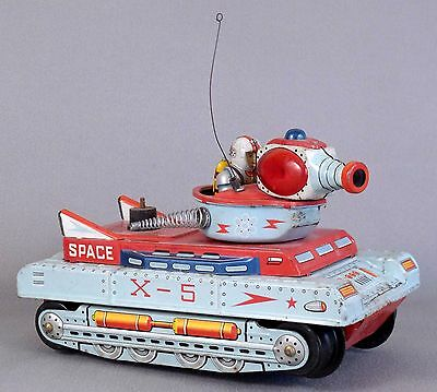 1960's Cragstan Japan Tin Litho Battery Op X-5 Space Toy