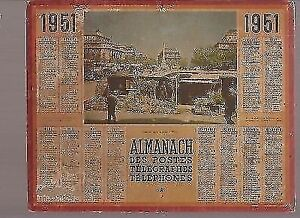 Calendrier 1951.Details Sur Almanach Calendrier Des Ptt 1951 Le Marche Aux Fleurs A Paris Be Anniversaire