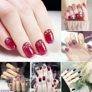 24Pcs-Glitter-Chic-False-Nails-Full-Cover-Nail-Art-Tips-Fake-Nails-with-Glue