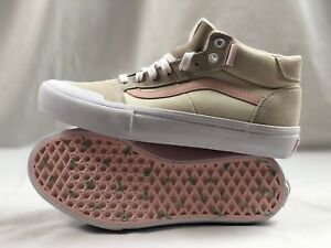 VANS STYLE 112 Mid Pro Men's Pearl Canvas Suede Skateboard Shoes Size 11.5