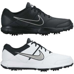 New Men s Nike Durasport 4 Golf Shoes Cleats Wide Medium Black White ... 0e342e6be