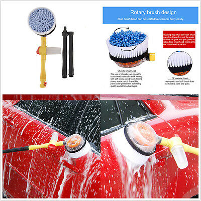 Professional Car Wash Switch Water Flow Foam Brush Extendable Pole Cleaning Tool